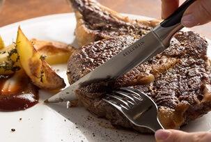 Bellemain Premium Steak Knife Cutting