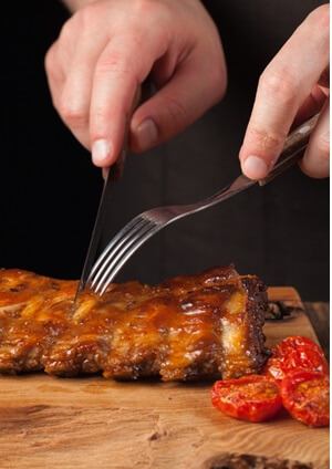 Cutting Ribs with a Boning Knife
