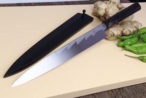 Yoshihiro Blue Steel Sashimi Knife - Suminagashi Yanagi