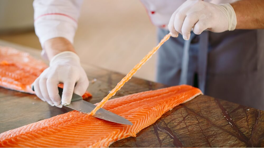 Trimming Salmon