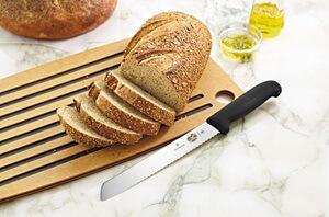Victorinox knife cutting bread