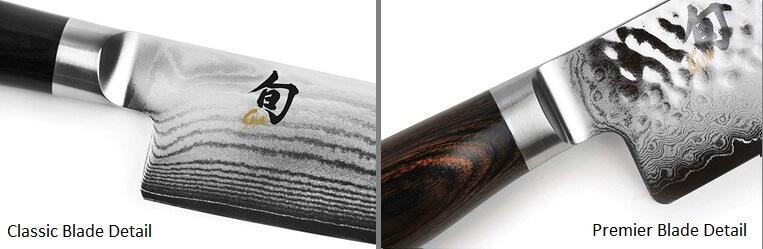 Shun Classic vs Premier - Blade Detail Image