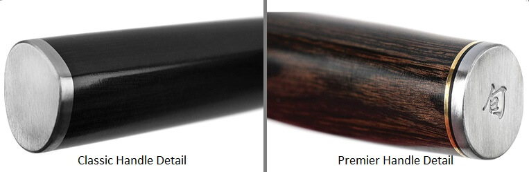 Shun Classic vs Premier - Handle Detail Image