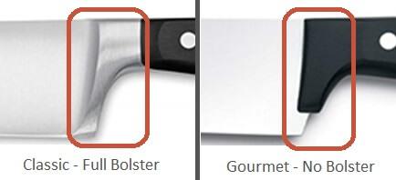 Wusthof Gourmet vs Classic - Bolster Detail Image
