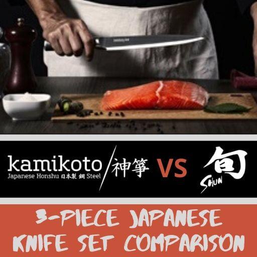 Kamikoto vs Shun: Who Makes the Best 3 Piece Japanese Knife Set?