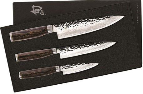Shun 3 piece japanese knife set