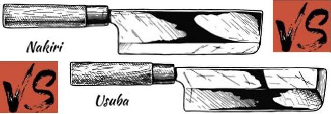 Whats the difference between nakiri and usuba knives