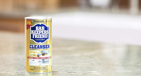 bar keepers friend for getting rid of rust on knives