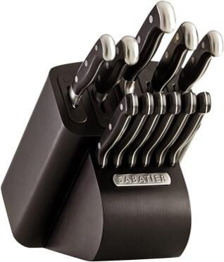 sabatier self-sharpening edgekeeper pro knife block set