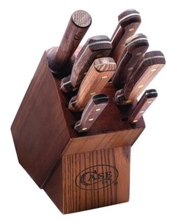 Case Kitchen Knife Set 9-pc Solid Walnut Wood Handles