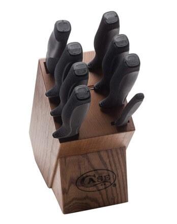 Case Kitchen Knives Set 9pc Black Handles
