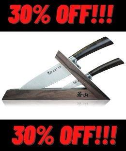 Cangshan TA Series 3pc TAI Walnut Knife Block Set