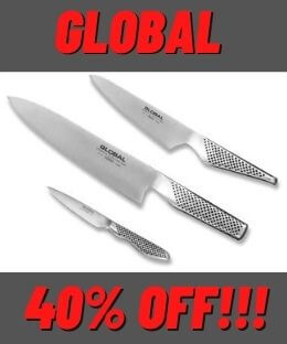 Global 3pc Starter Kitchen Knife Set