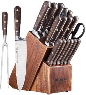 Alltripal 18 Piece Kitchen Knives Set