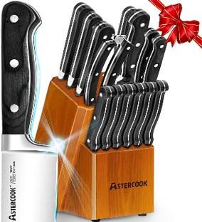Astercook 15 Piece Knife Set