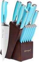 Emojoy 15piece Best Emojoy Knife Set Blue Handles