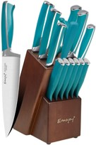 Emojoy 15piece Best Emojoy Knife Set Lake Blue Handles
