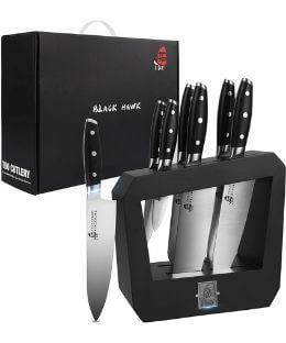TUO 7pc Knife Set Prime Day Deal - Black Hawk Series