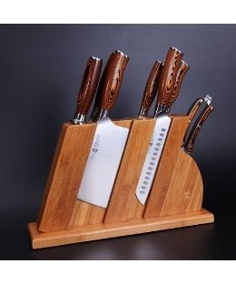 TUO Knife Set Prime Day Deal 8pc Wood Block Set