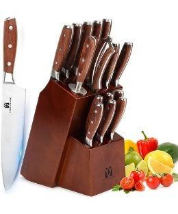 Vestaware 16 pc German Forged Knife Set - Prime Day Knife Deal
